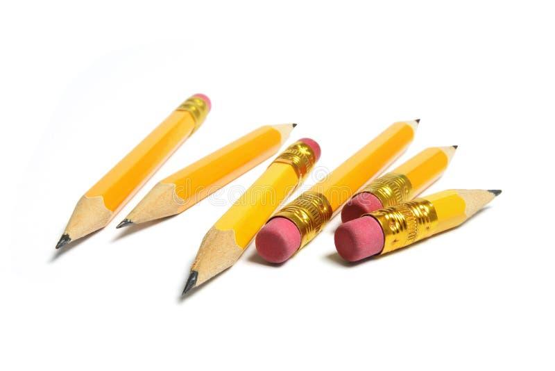 карандаши замыкают накоротко стоковое изображение