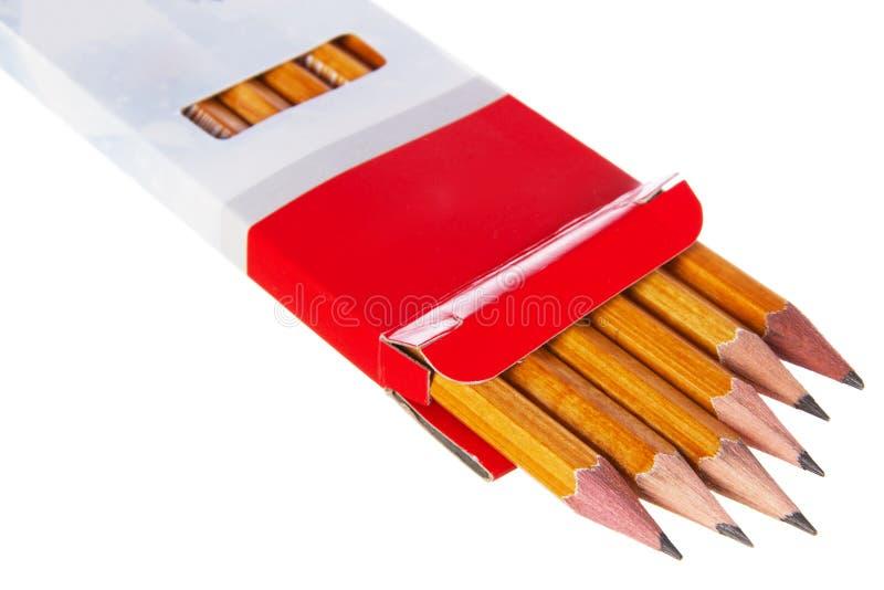 карандаши коробки стоковое фото rf