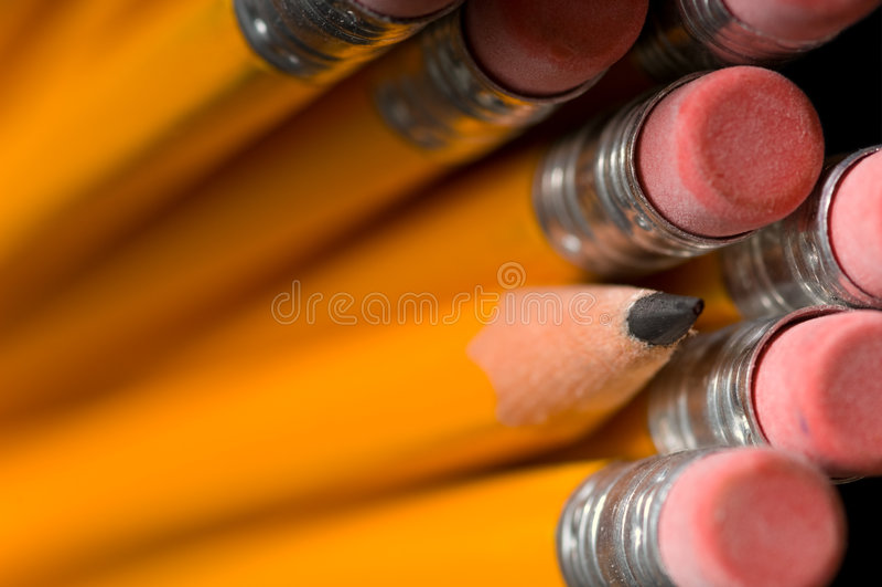 карандаши макроса стоковое фото rf