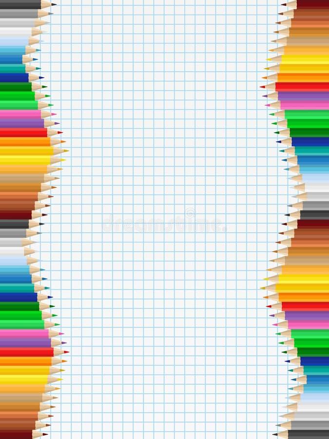 карандаши покрашенные предпосылкой иллюстрация штока