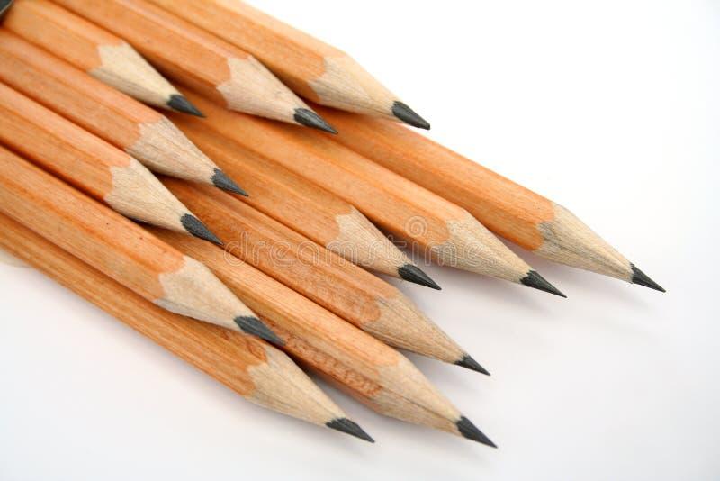 карандаши прокладывая курс установленное деревянного стоковое изображение