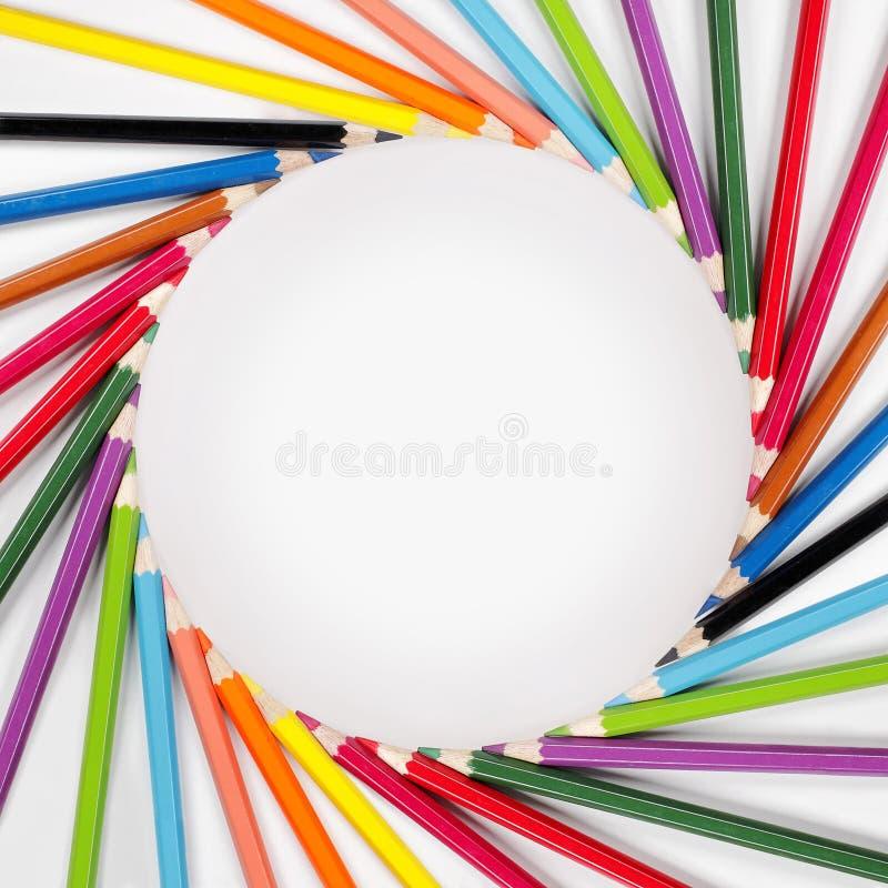 карандаши рамки цвета стоковые изображения rf