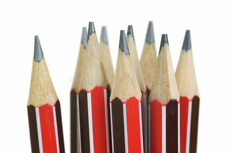 карандаши руководства стоковое изображение rf