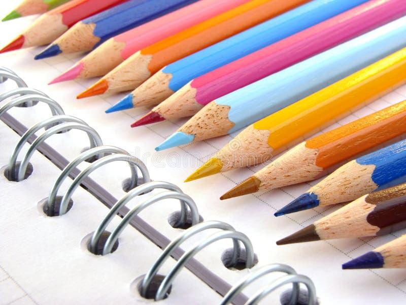 карандаши 1 цвета стоковые фото