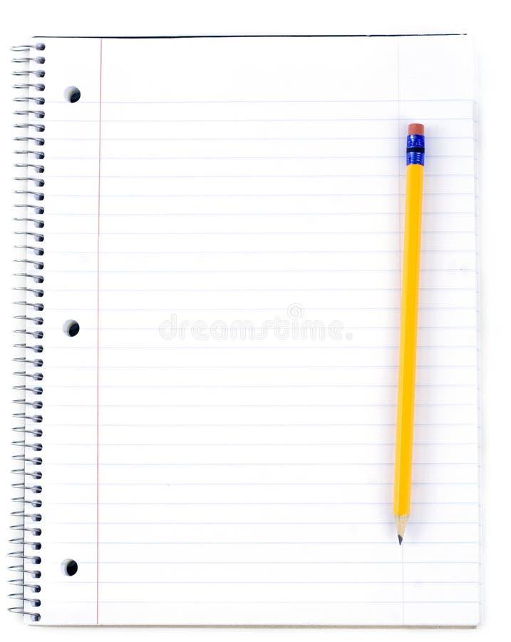 карандаш бумаги примечания стоковое фото rf