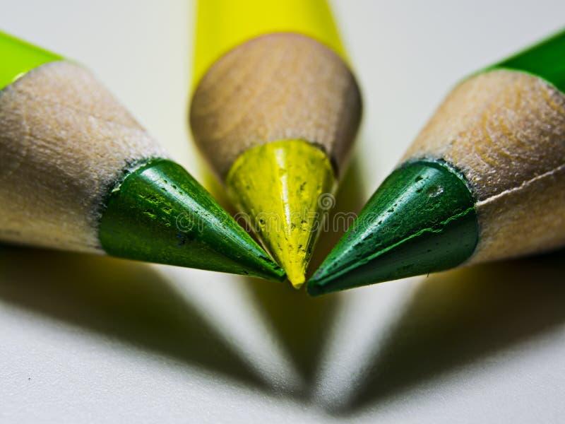 карандаш 3 в масштабе макроса стоковая фотография