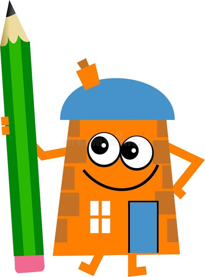 карандаш дома бесплатная иллюстрация