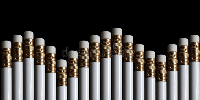карандаш истирателей стоковая фотография