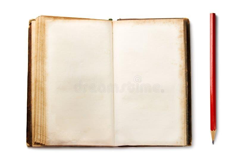 карандаш книги старый стоковое изображение