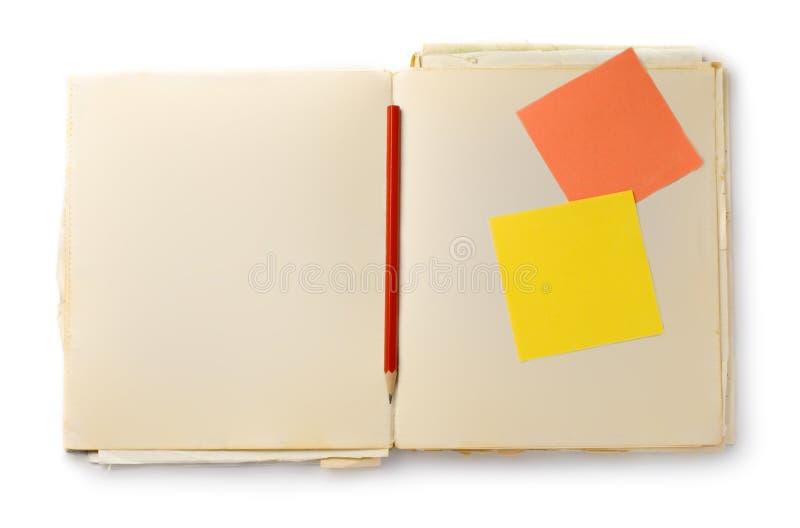 карандаш книги старый стоковая фотография rf