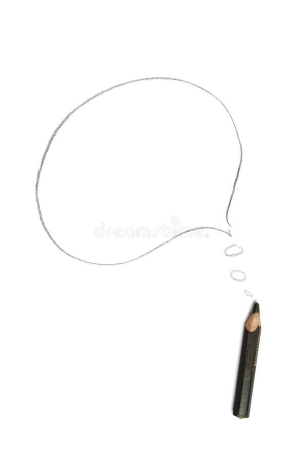 карандаш комиксов пузыря стоковое изображение