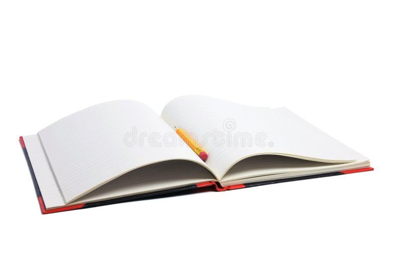 карандаш примечания книги стоковые изображения rf