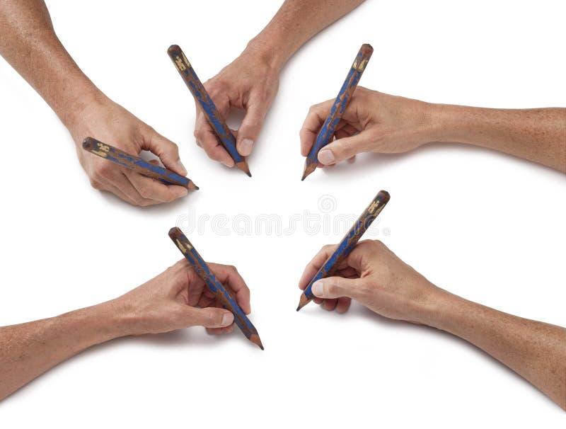 карандаш руки чертежа искусства стоковая фотография rf