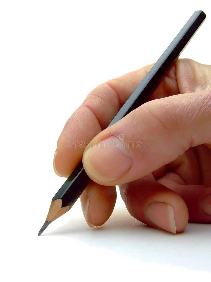 карандаш руки стоковые фото