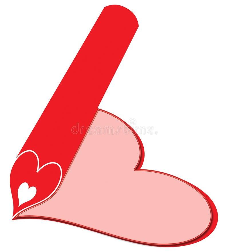 карандаш сердца одного стоковые изображения