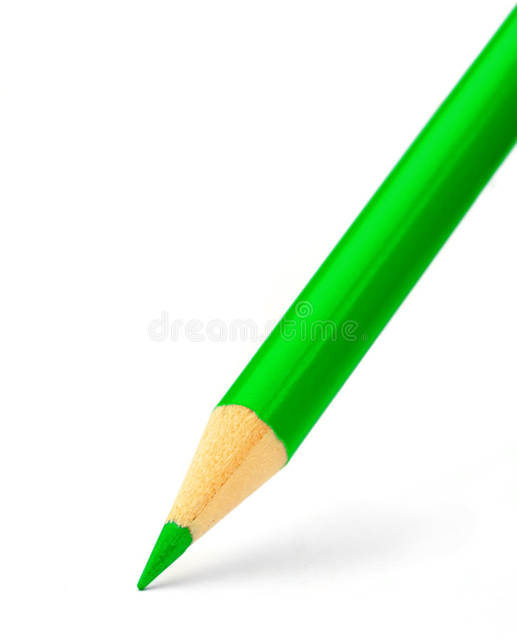 карандаш цвета зеленый стоковые фото
