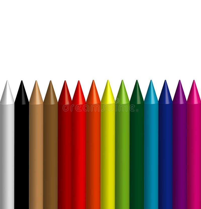 карандаш 3d покрашенный предпосылкой иллюстрация штока