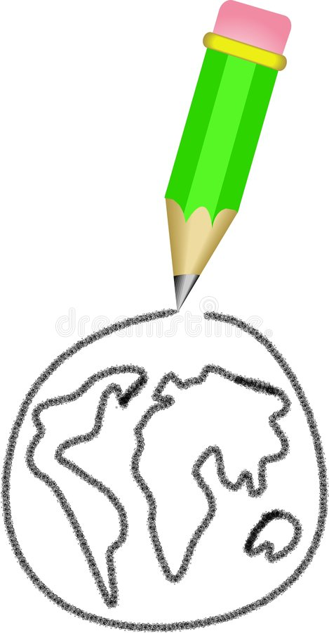 карандаш иллюстрация вектора