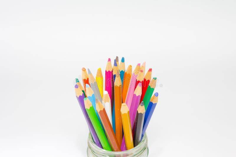 карандаши изолированные цветом стоковая фотография rf