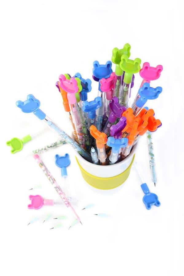 карандаши покрашенные дет стоковое изображение