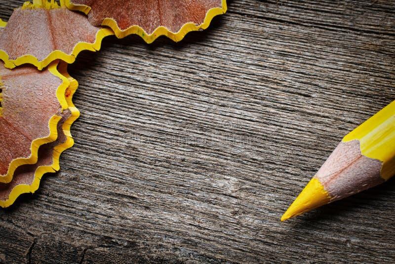 Карандаш и shavings стоковое изображение rf