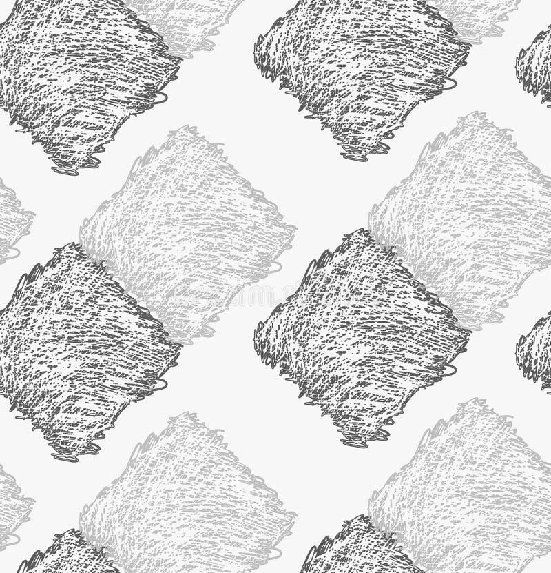 Карандаш насидел темную и светлую - серый касаться квадратов иллюстрация штока