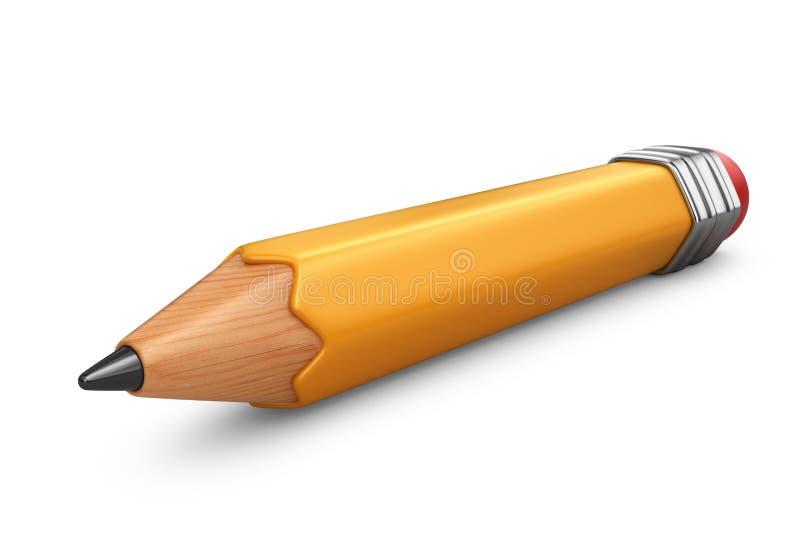 карандаш одиночный икона 3d иллюстрация вектора