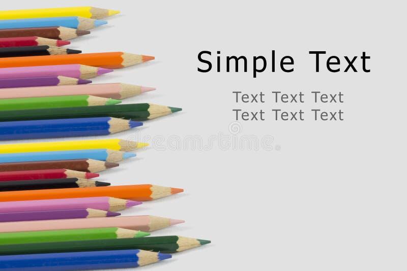 Карандаш цвета с текстом simlple стоковое изображение rf