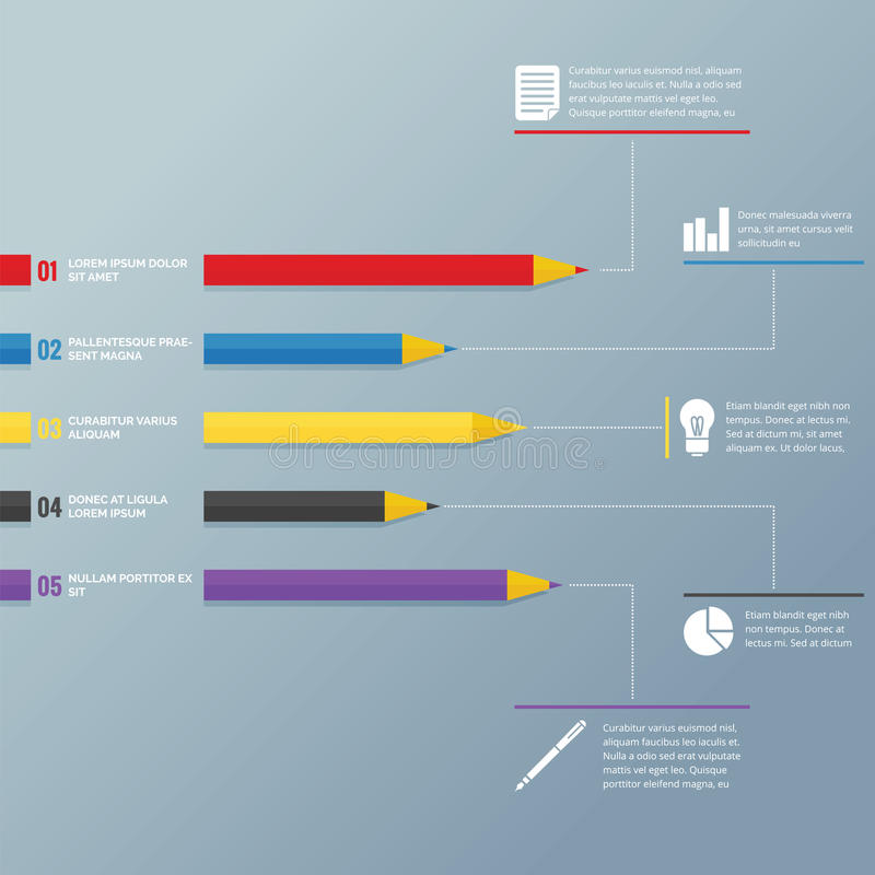 Карандаш Infographic иллюстрация штока