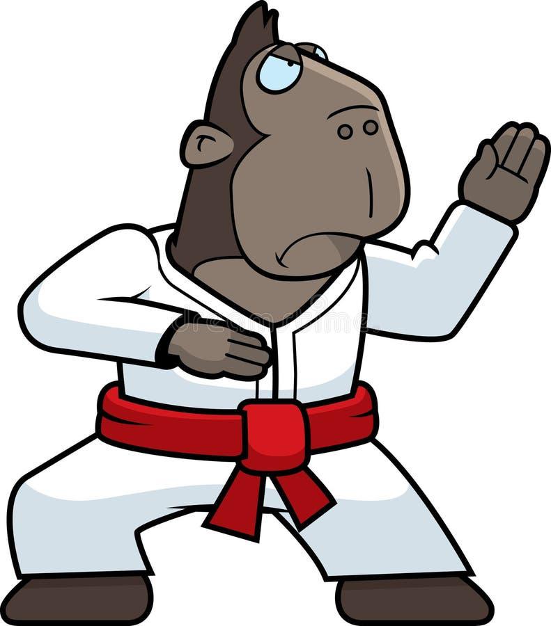 карате обезьяны иллюстрация штока