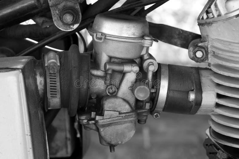 Карбюратор мотоцикла стоковое изображение rf