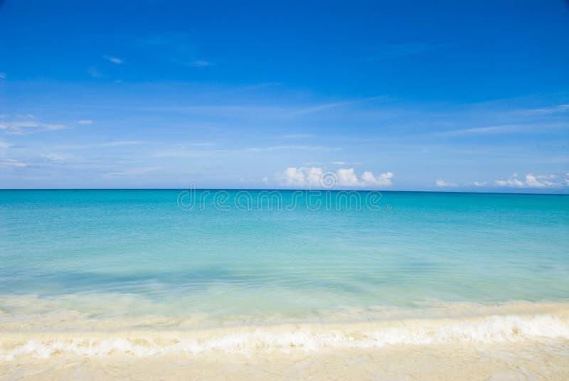карибская вода неба стоковая фотография