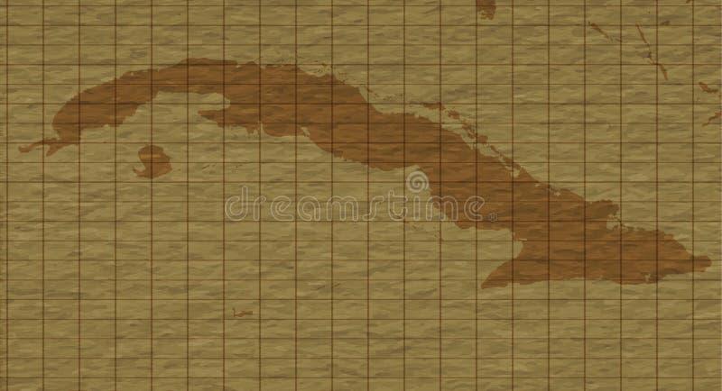 Карибская ретро карта, плоская иллюстрация вектора иллюстрация вектора