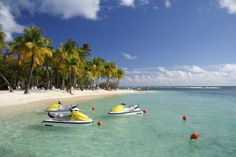 карибские watersports стоковые изображения rf