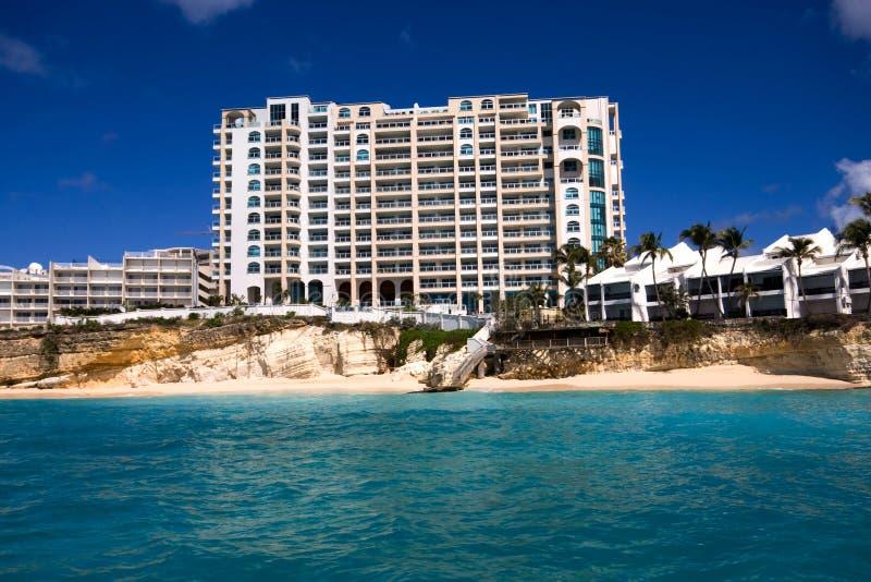 Карибский курорт стоковые фотографии rf