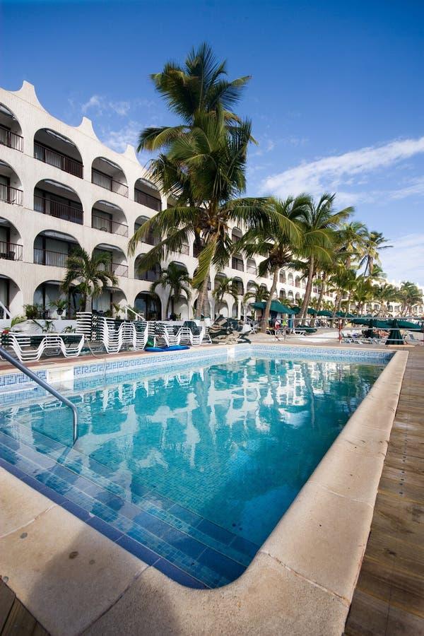 Карибский курорт стоковое изображение rf