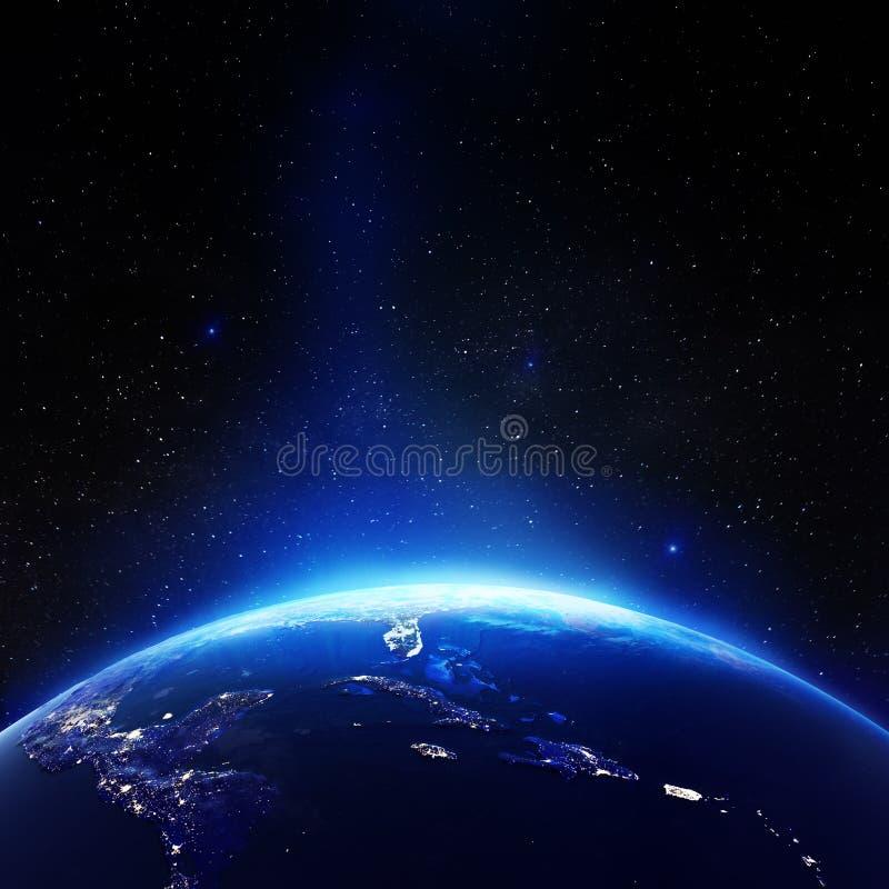 Карибский от космоса иллюстрация вектора