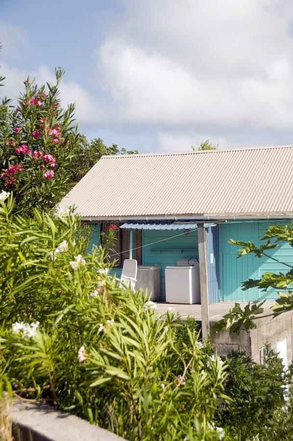 карибский тип дома типичный стоковое фото rf