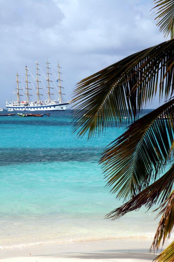 карибский sailing стоковые изображения rf