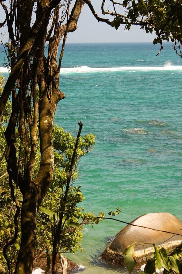 карибское tayrona моря национального парка Колумбии стоковая фотография rf
