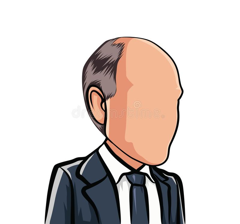 Карикатура портрета, большая голова мультфильма, воплощение бесплатная иллюстрация