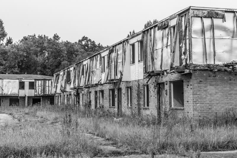 Каркасные структуры старых городских проектов стоковая фотография