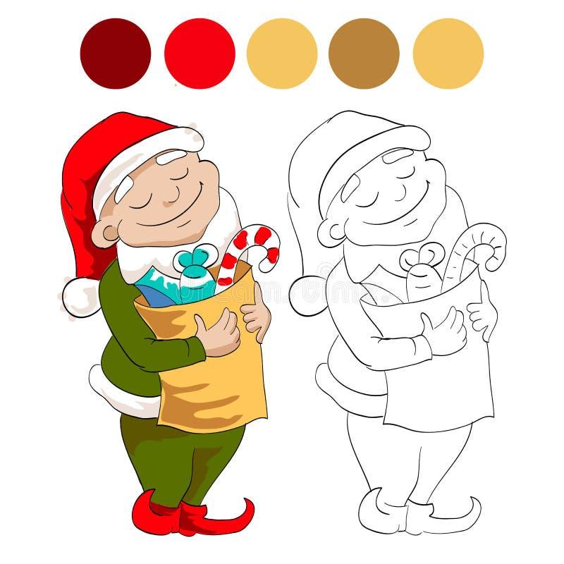 карлик с помадками иллюстрация штока