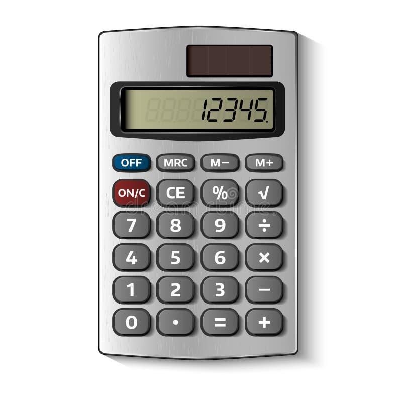 Карманный калькулятор изолированный на белизне иллюстрация вектора