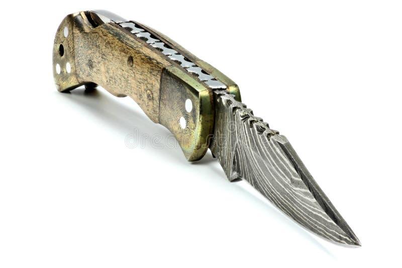 Карманный нож Дамаска стоковые изображения