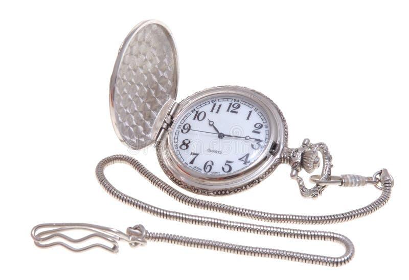карманный серебряный вахта стоковое изображение