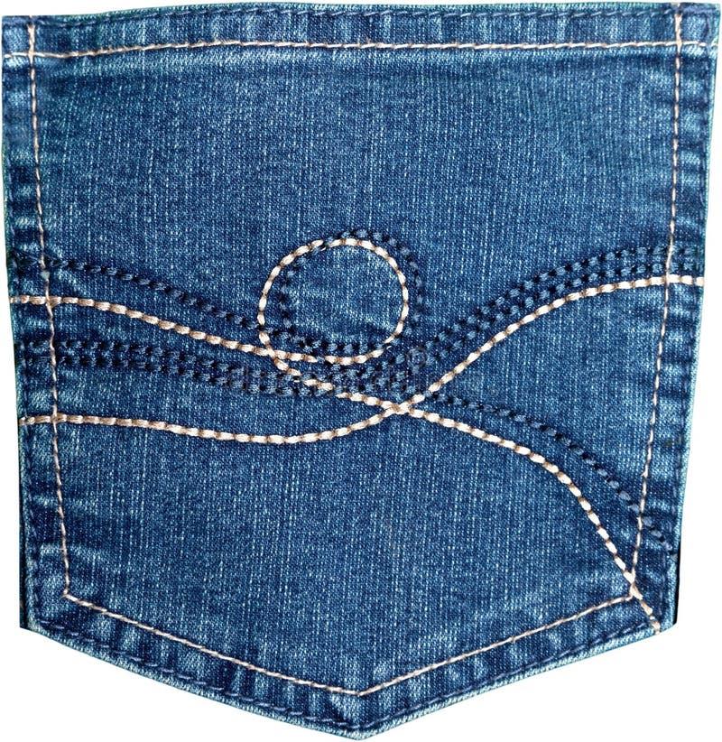 Карманн джинсов джинсовой ткани стоковые изображения