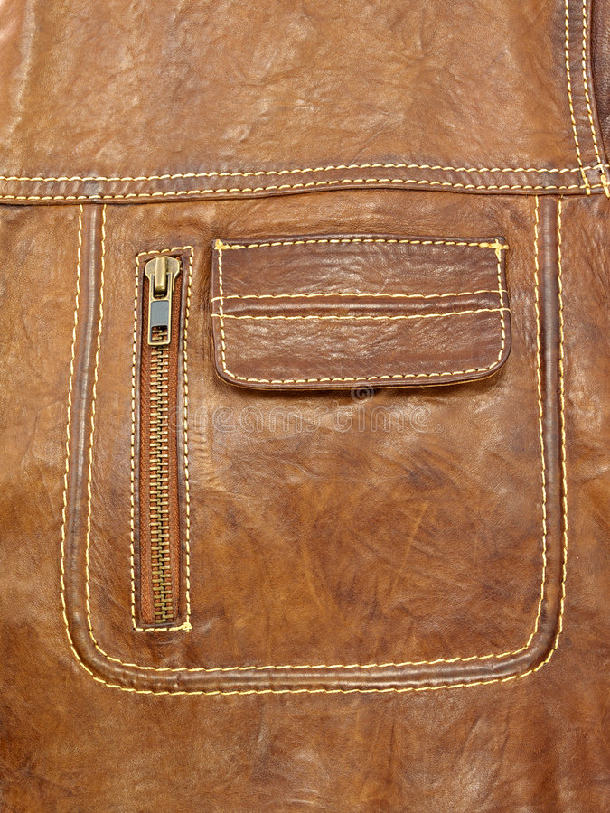 карманн куртки кожаное стоковое изображение
