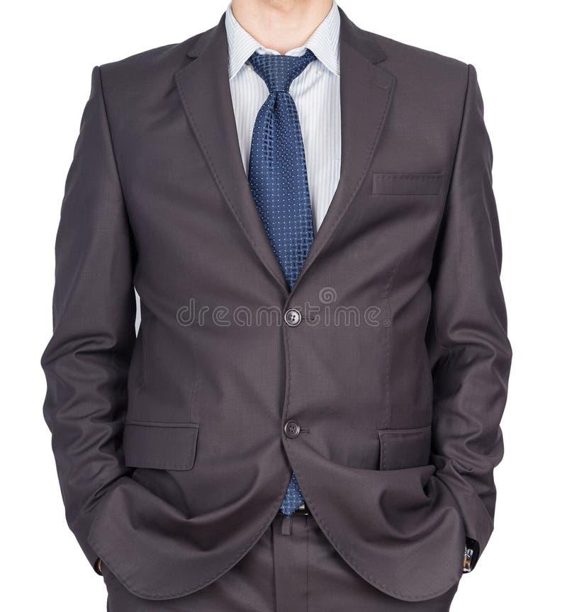 Карманн руки костюма человека стоковое фото rf