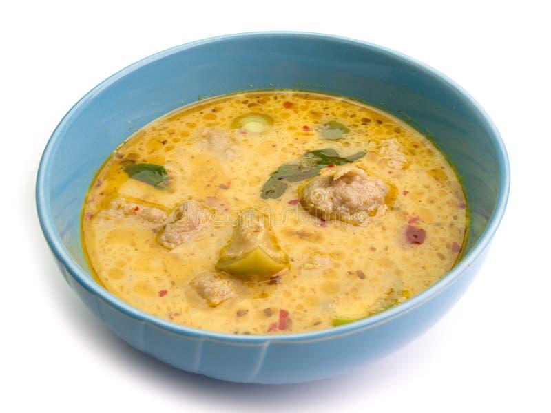 Карри зеленого цвета еды Таиланда, интенсивный суп стоковая фотография